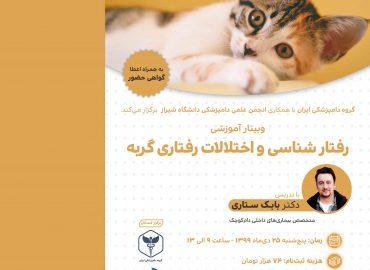 رفتارشناسی و اختلالات رفتاری گربه - گروه دامپزشکی ایران