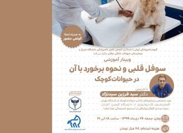 وبینار آموزشی سوفل قلبی و نحوه برخورد با آن در حیواناتکوچک - گروه دامپزشکی ایرانوبینار آموزشی سوفل قلبی و نحوه برخورد با آن در حیواناتکوچک - گروه دامپزشکی ایران